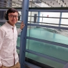 Xinzhi conducts his research in John Hopkins University's wind tunnel and wave tank laboratory